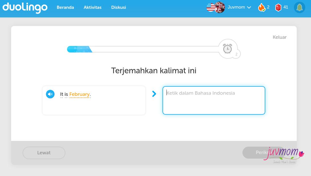 Menerjemahkan bahasa inggris ke bahasa indonesia.