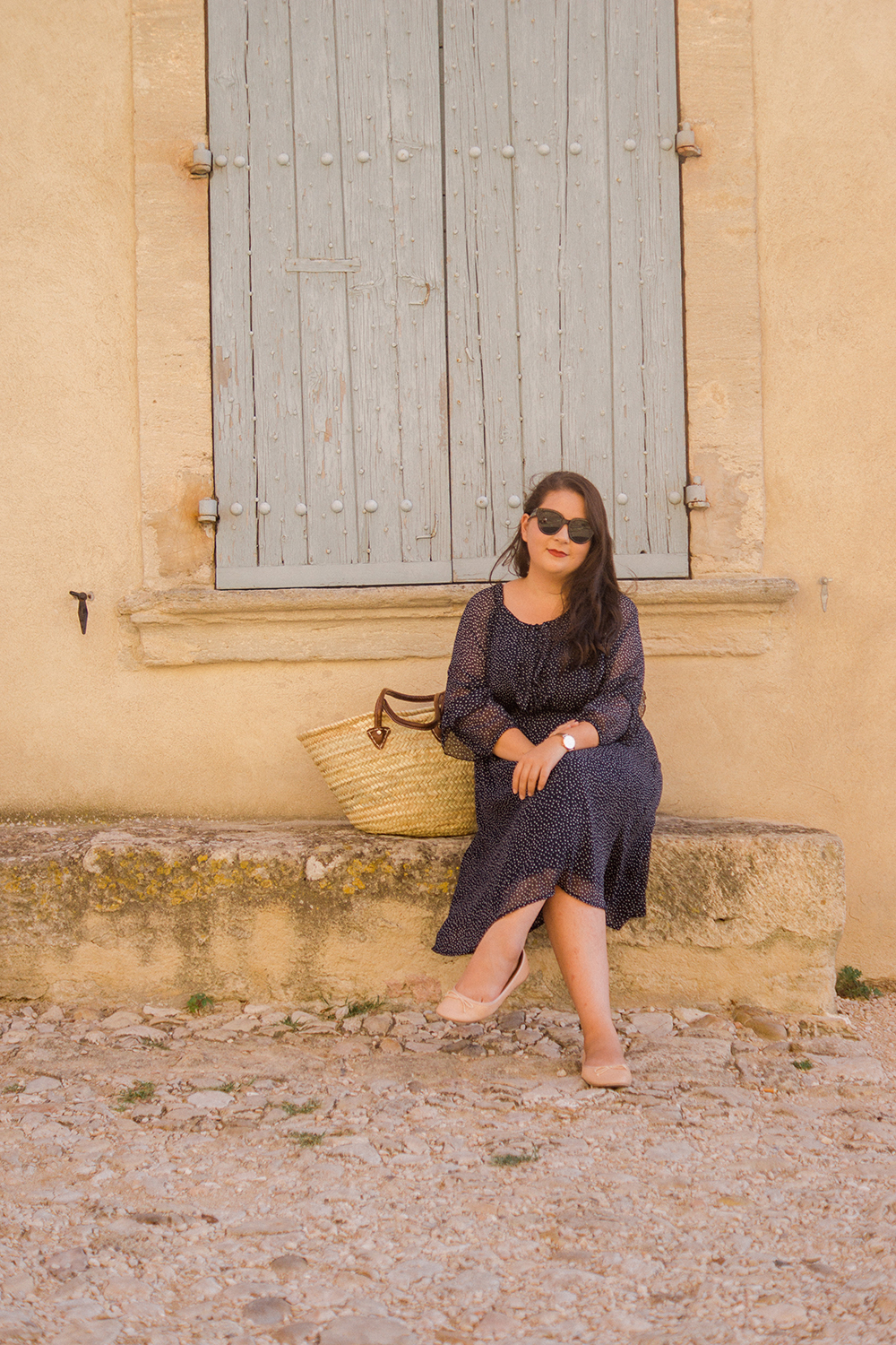Provence-travel-photo-diary-navy-polka-dress-ootd-Barely-There-Beauty-blog