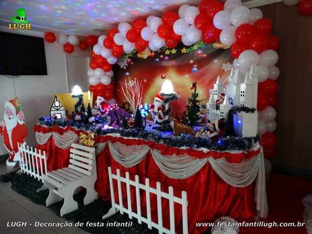 Mesa temática de Natal - Festa de aniversário infantil