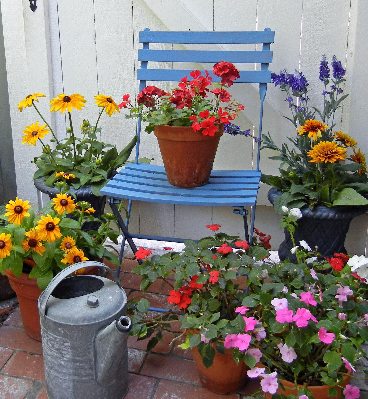 My Painted Garden: Inspirations for Painting A Blue Chair