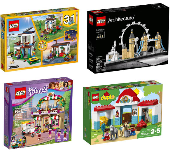 Lego Sets for all ages to Add to Collection