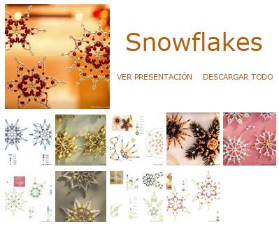 copos de nieve, abalorios, bisutería, adornos, Navidad
