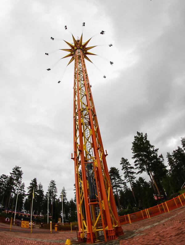 PauMau blogi nelkytplusbloggari nelkytplus Tykkimäki huvipuisto Kouvola korkea laite keinu Starflyer vauhtiajo
