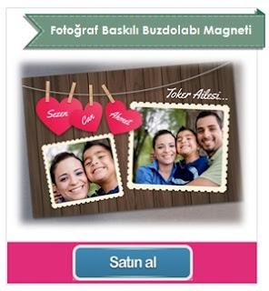 Fotoğraf Baskılı Canım Ailem Buzdolabı Magneti