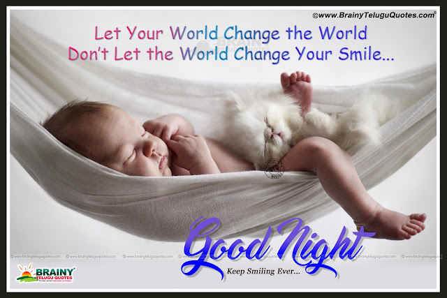 famous good night quotes in english, english smile quotes, cute baby hd wallpapers with good night messages