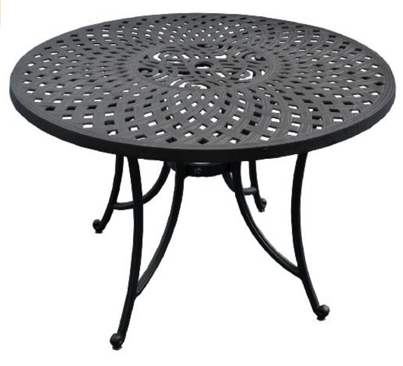Round Aluminum Outdoor Table, Crosley Furniture Sedona 48-Inch Cast Aluminum Dining Table