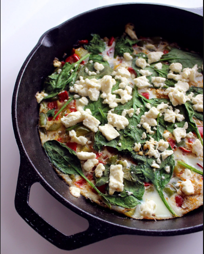 Frittata with egg whites