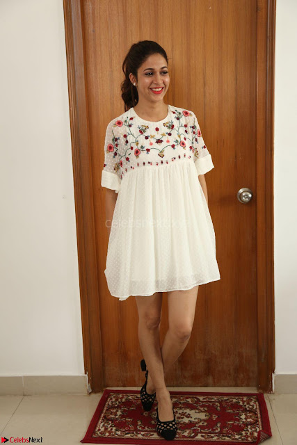 Lavanya Tripathi in Summer Style Spicy Short White Dress at her Interview  Exclusive 001.JPG