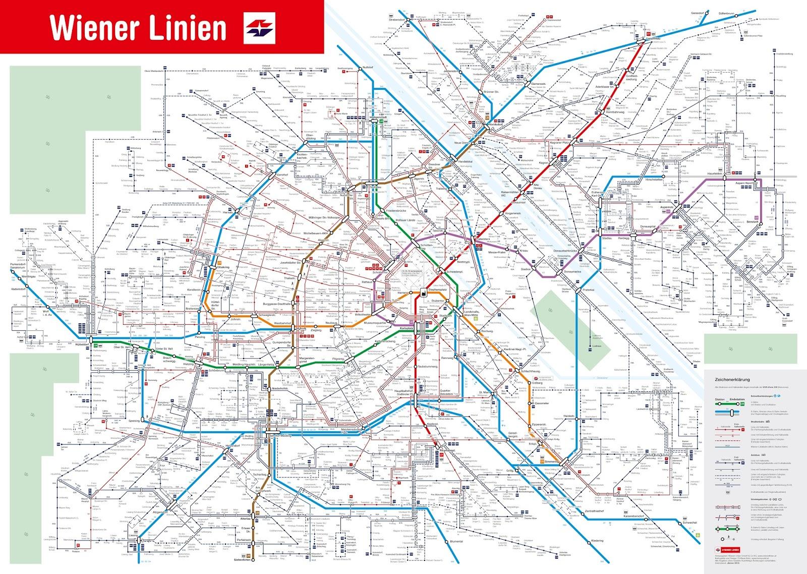 bécs térkép RegionalBahn: Új térkép Bécsben