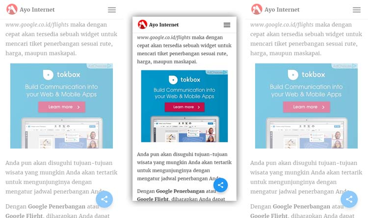 Menempatkan Iklan Di Tengah Postingan Wordpress AMP HTML