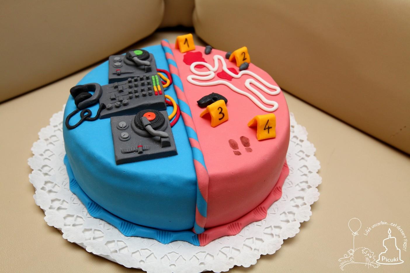 boldog születésnapot dj Picuki: DJ és Detektív torta boldog születésnapot dj