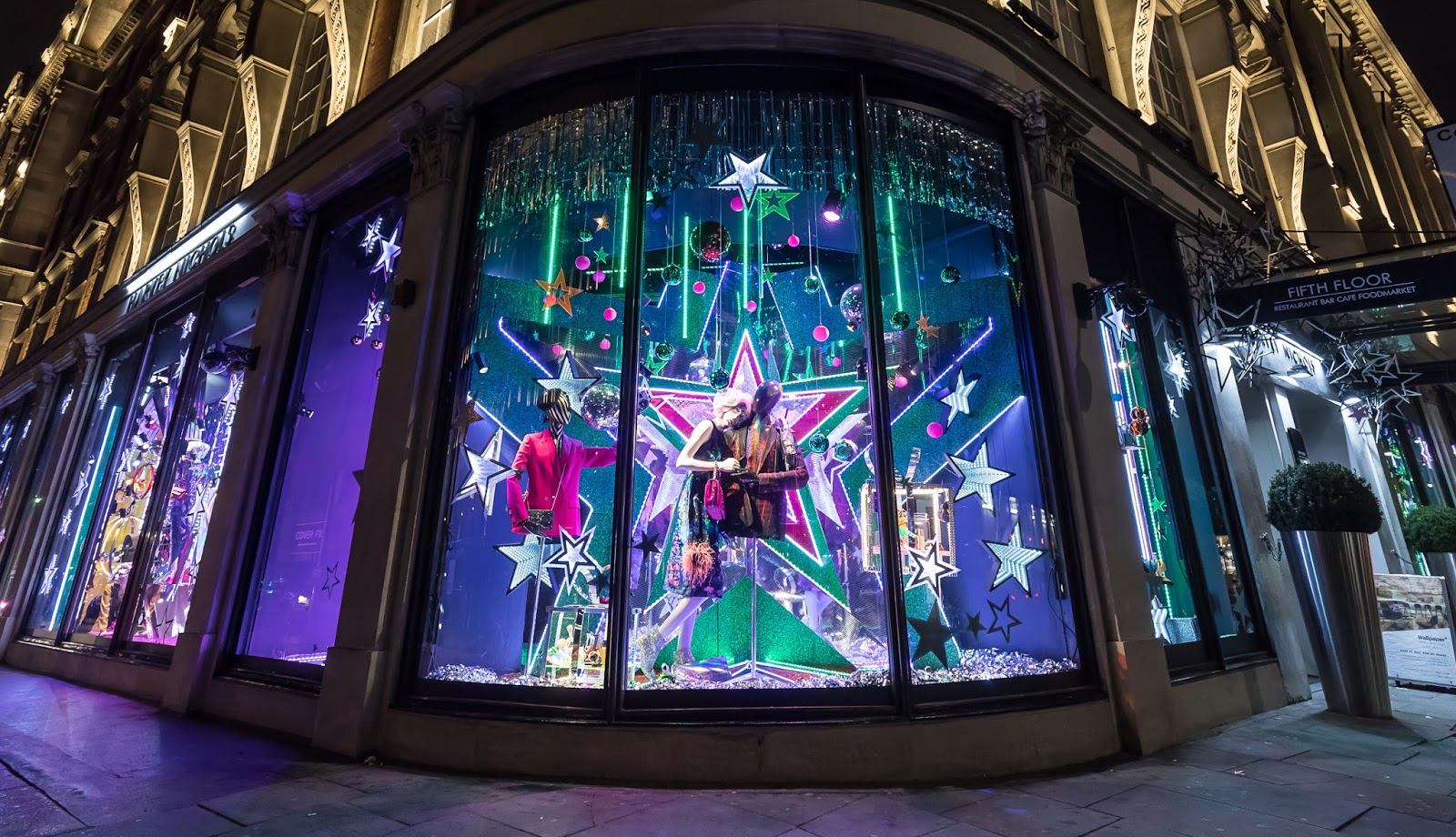 All About London Harvey Nichols 2017 Christmas Windows