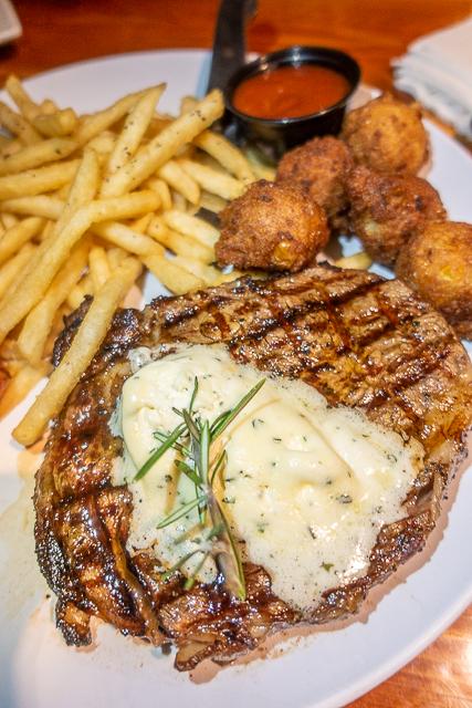 Steak with garlic butter  - Cap's on the Water - St Augustine FL