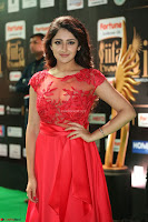 Saisha looks Glamorous Super cute in Transparent Red Gown at IIFA Utsavam Awards 013.JPG