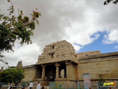 Main Doorway to Lepakshi Veerabhadra Swamy Temple in Andhra Pradesh, India