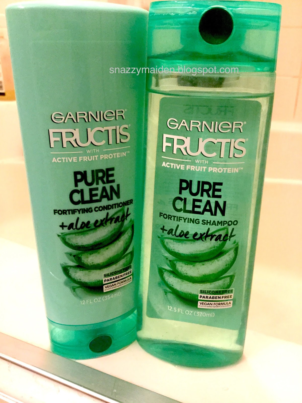 How Long Do Air Conditioners Last >> Lavishly Simple: Try on: Garnier Fructis Pure Clean Fortifying Shampoo and Conditioner + Aloe ...