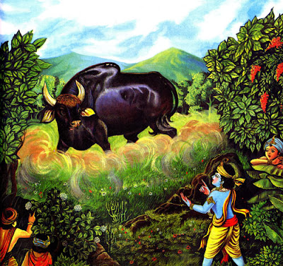 Krishna and Arishta, the bull
