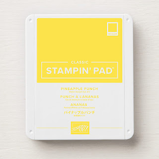 This image shows a photograph of Pineapple Punch Classic Stampin' Pad from Stampin' Up!