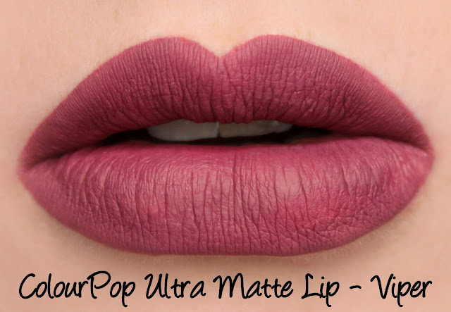 ColourPop Ultra Matte Lip - Viper Swatches & Review