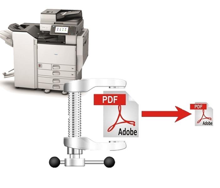 Nén file PDF trên máy photocopy