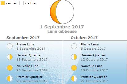 Blog de chasse au chevreuil l 39 arc calendrier lunaire en - Date pleine lune octobre 2017 ...