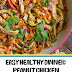 Easy Healthy Dinner: Peanut Chicken Zucchini Noodles