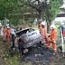 Kemalangan maut semalam pemandu terbakar kereta langgar pokok