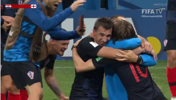 El interminable festejo croata al pasar a su primera final mundial / FIFA TV
