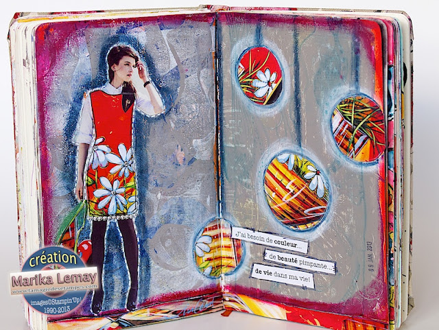 art journal collage