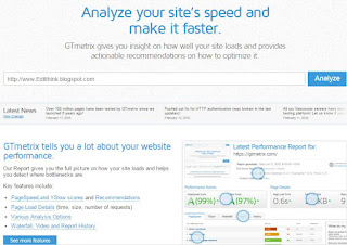 Web Sites And Blog Ki Speed Check Karne Ka Tarika