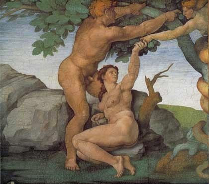 O Pecado Original - Michelangelo Buonarroti e suas pinturas (Renascimento) Italiano