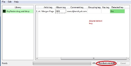 Detect key lagu dengan software key finder