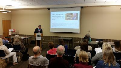 Andrew Doty presents to SLPA members