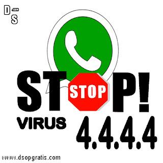 Waspada ! Pesan Yang Berkode 4.4.4.4 di Whastapp itu Virus