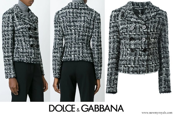 Kate Middleton wore DOLCE & GABBANA tweed jacket