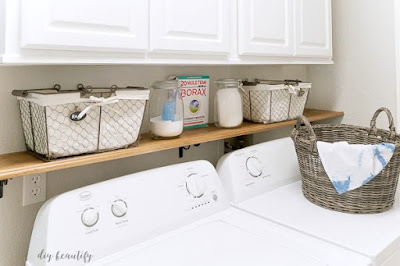 easy shelf for laundry room