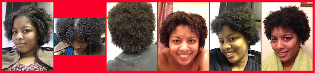 Wet natural hair growth for 6 months