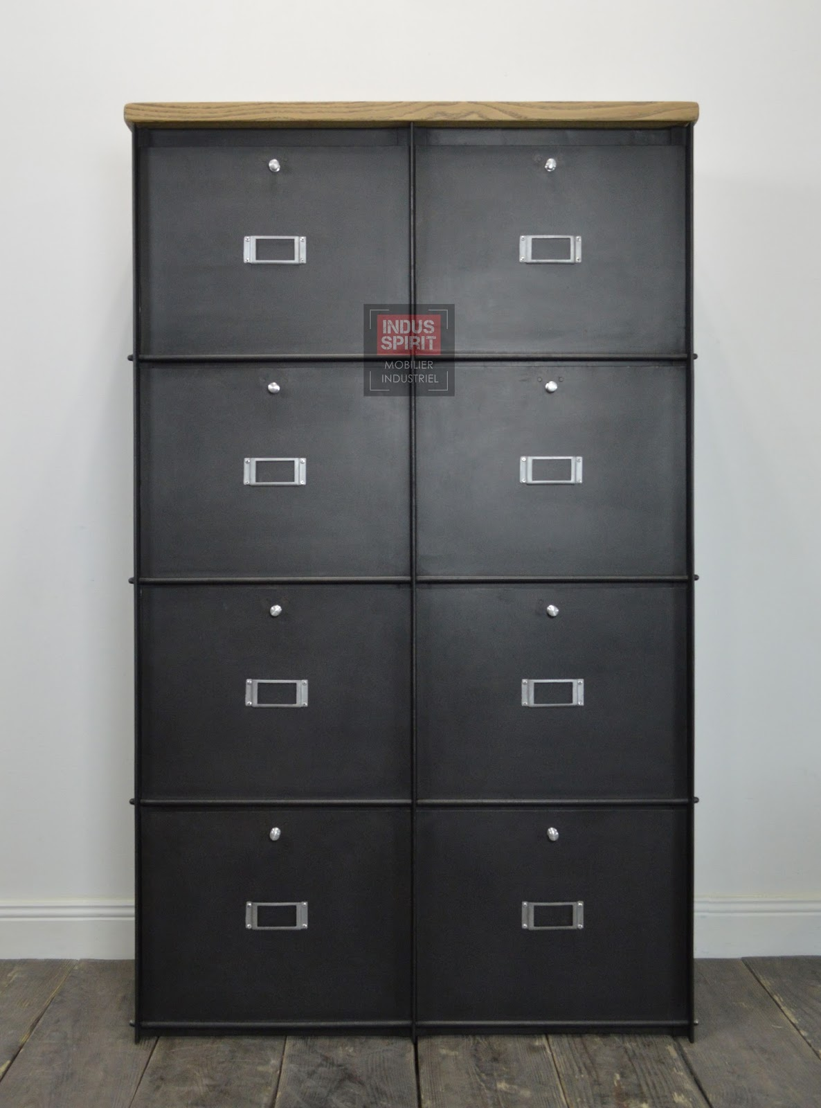 meuble clapet labor m tal. Black Bedroom Furniture Sets. Home Design Ideas