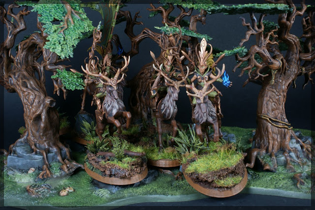 warhammer age of sigmar sylvaneth wyldwood painted forest scenery miniatures diorama 2