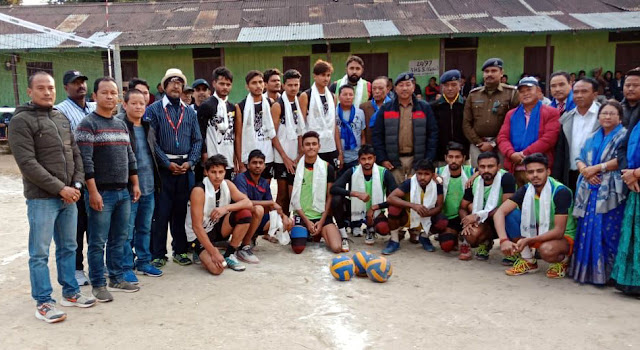 Late Bhim kumar pakhrin open volleyball tournament memorial cup Mungpoo wins reshep