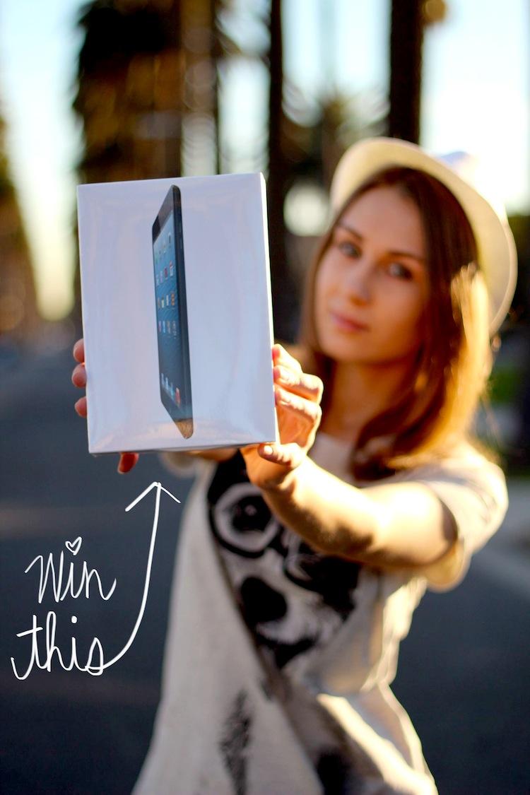 Win an iPad Mini with LA By Diana Live Magazine.