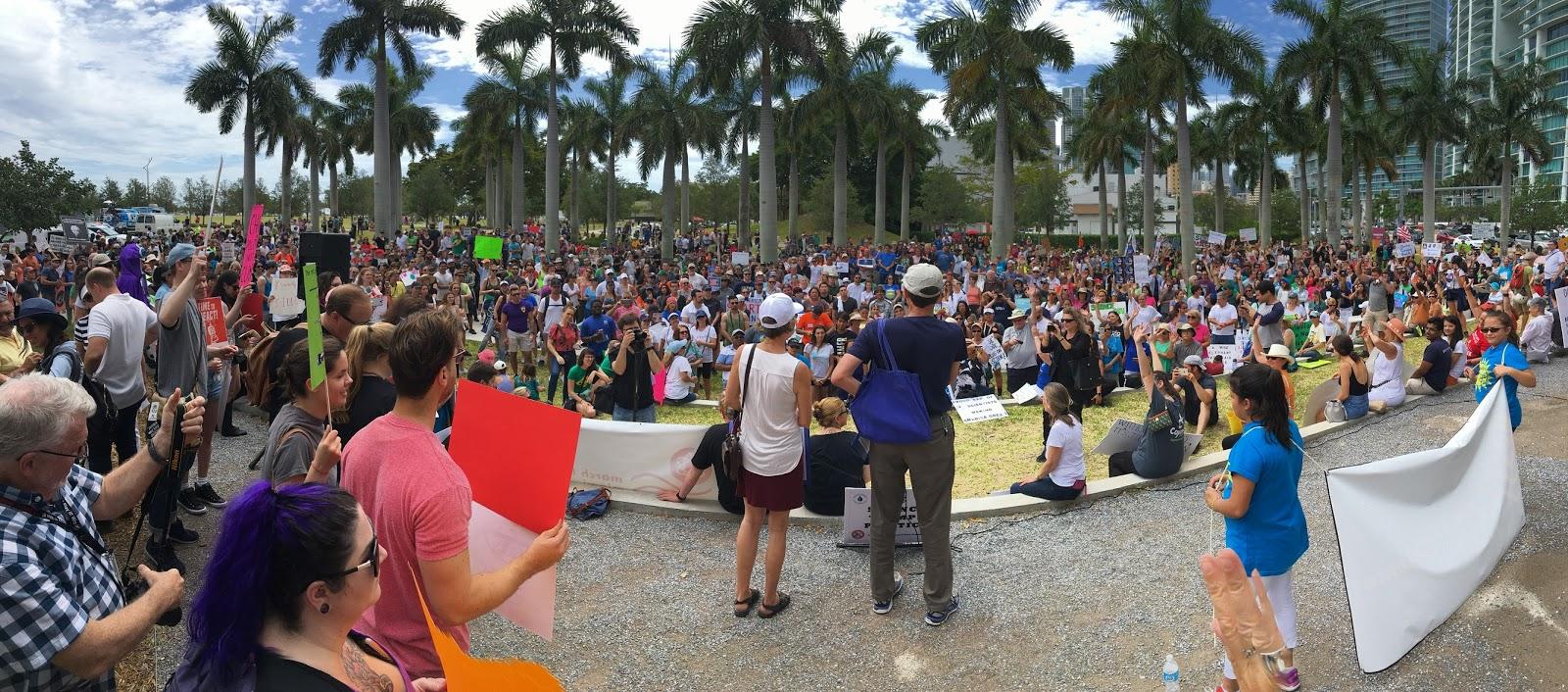 Miami, March For Science, April 22, 2017