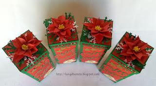 Embalagem natalina para mini vinho
