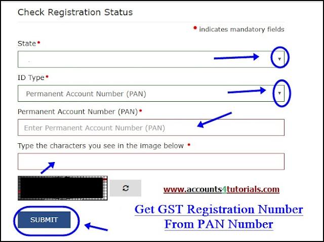 know gst registration number based on pan number