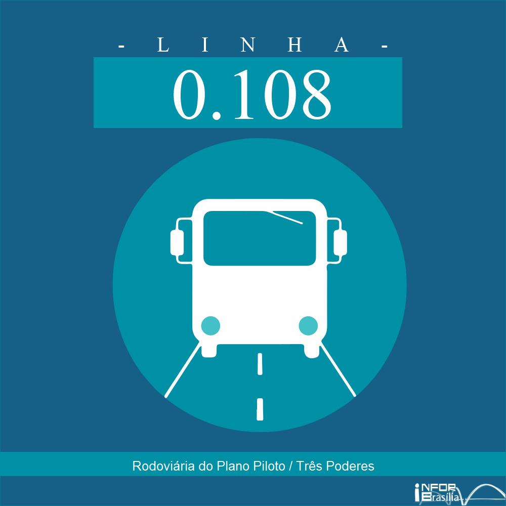 Horário de ônibus e itinerário 0.108 - Rodoviária do Plano Piloto / Três Poderes