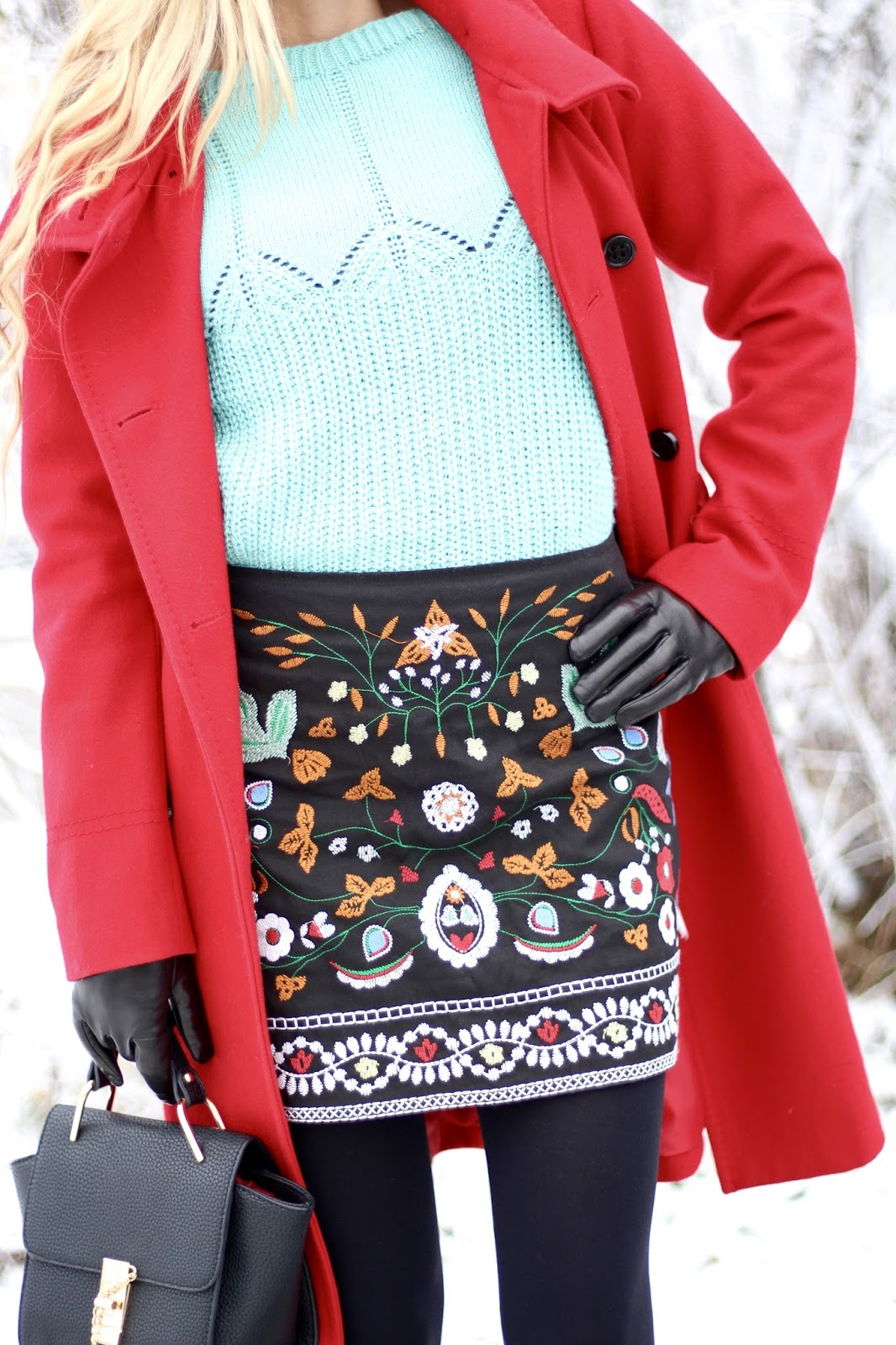 zaful floral skirt
