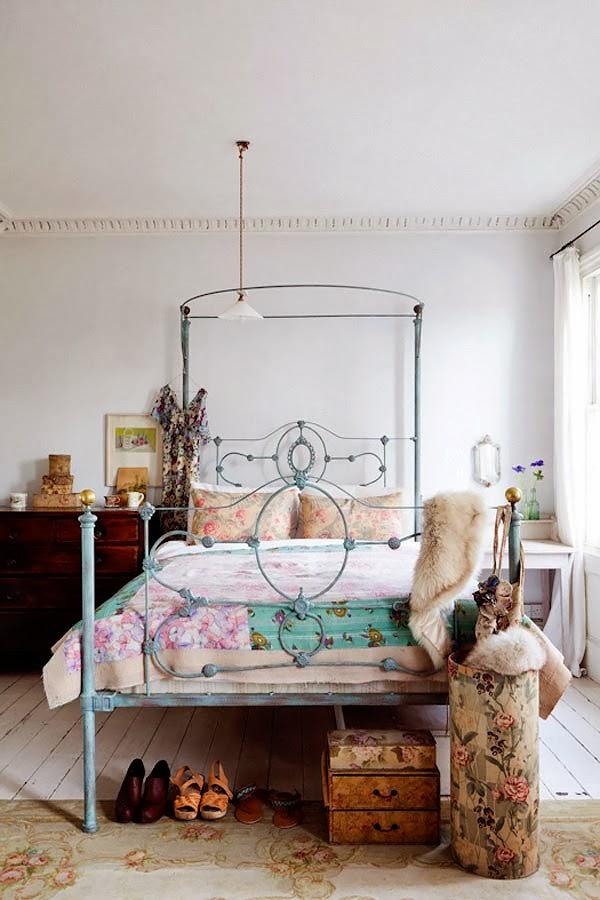 wystrój wnętrz, wnętrza, home decor, dom, mieszkanie, aranżacja, vintage, shabby chic, sypialnia