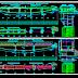 مخطط مشروع جسر مختلط هياكل معدنية + خرسانة اوتوكاد dwg