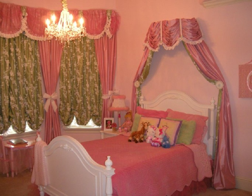 princess room ideas with curtain and light