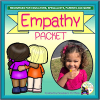 An empathy teaching packet with printables, worksheets, and posters
